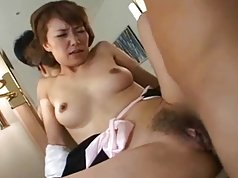 Japanese milf has hairy pussy licked and fucked (uncensored0