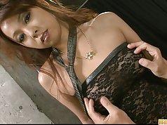 Stunning Asian babe Asuka teasing and hardcore fucking