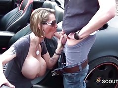 German Step-Mom With Monster Tits get caught Fuck other Man